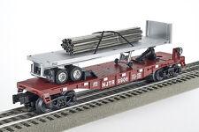 Lot 4057 Lionel piattaforma carrello con 12 guide in metallo (Flatcar with metals Rails)