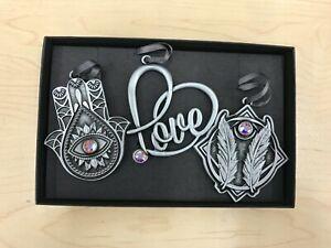 Alex And Ani Rafaelian Silver HAND OF FATIMA GODSPEED LOVE Ornament Set