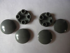 2 x 2 DARK GREY PLATE ROUND WITH ROUNDED BOTTOM (BOAT STUD)  PART 2654