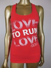 "LORNA JANE SPORT ""LOVE TO RUN"" STRIPED TANK TOP ACTIVE SINGLET T SHIRT GYM XS"