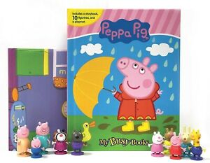JUNIORS PEPPA PIG MY BUSY BOOK - PLAYMAT & 10 FIGURES - FREE POSTAGE