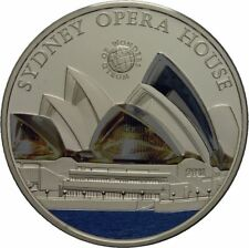 2011 Palau Large Silver Proof color $5 Sydney Opera