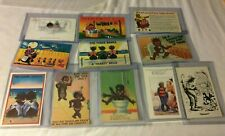 16 Vintage Black Americana Postcard Cartoons many w/ Kids
