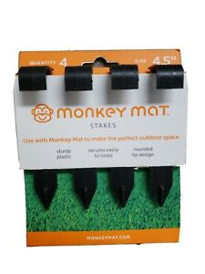 Monkey Mat Stakes 4 Pack Black Free Shipping