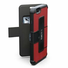 UAG Urban Armor Gear Folio Wallet Cover Case Stand for iPhone 6 / 6S Red / Black