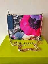 Bnwt Ted Baker Namia Neon Poppy Leather Xbody Clutch Hand Bag* Match Dress Shoes
