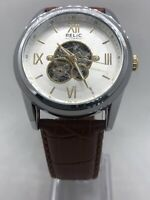 Relic by Fossil ZR77280 Men's Blaine Leather Automatic Skeleton Watch No Box