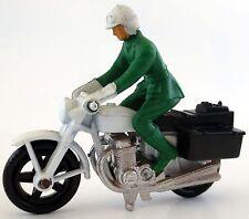 Matchbox Superfast No 33C Honda 750 Polizei Motorcycle Motorrad 1977 grün weiß