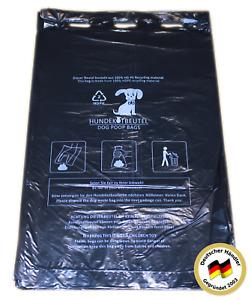 100 - 24000 Hundekotbeutel HD-PE Gassibeutel schwarze Kotbeutel 21x31,5 + 3,5 cm