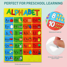 Educational Posters Learning Supplies 10PCS Charts Teaching Tools for Kids US
