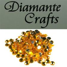 5mm Diamante Round Loose Flat Back Craft Gems Choose from 18 Colours