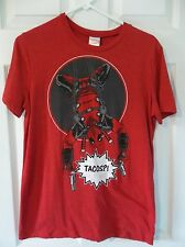 MARVEL DEADPOOL TACOS RED BLACK LOOT CRATE T-SHIRT SIZE SMALL