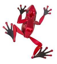 Rouge de jardin en métal grenouille shelf sitter Sculpture Pelouse Ornement Figure grenouilles
