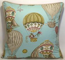 "2 22"" Designer Throw Pillows Waverly Aerial Adventure Creme de Menthe Fabric"