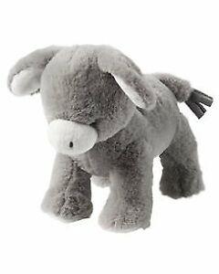 NWT Carters Plush Grey Gray Donkey Mule Baby Toy Stuffed Animal Lovey 67194