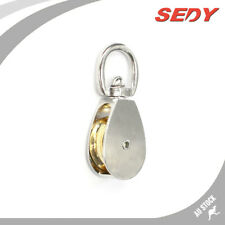 25mm Swivel Eye Single Pulley Stainless Kirsite Pully Wheel Block Lifting Rope