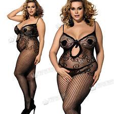 Plus+ size UK16 18 20 22 24 26 Bodystocking Lingerie Fishnet Curvy Ladies Tights