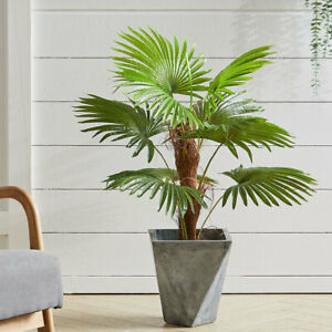 90cm Artificial Palm Tree Realistic Fake Plant Indoor Outdoor Home Office Decor