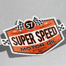 Superspeed Motor Oil Vinyl Sticker Decal Window Car Van Bike 3451