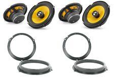 JL Audio C1-650x Speaker Upgrade Ford Fiesta Mk7 avant et arrière Portes/trimestre