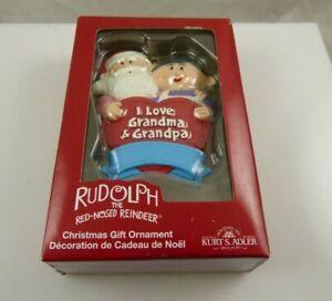 Santa & Mrs. Claus I love Grandma & Grandpa Rudolph the red nosed reindeer xmas