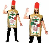 Adult Tequila Bottle Costume Stag Do Mexican Festival Fancy Dress Outfit New