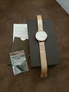 Daniel Wellington Classic Petite Melrose Women's Watch Rose Gold DW00100163