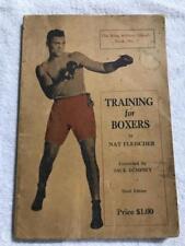 1929 TRAINING FOR BOXERS BOOK BY NAT FLEISCHER & JACK DEMPSEY THIRD EDITION