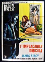 Manifesto L'Implacable Asesino Evasiva Raquel Welch James Stacy Neilson M303