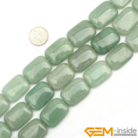 """Natural Assorted Gemstones Rectangle Beads For Jewelry Making Strand 15"""" 18x26mm"""