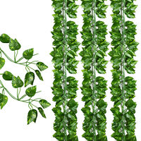 12 Pack Artificial Greenery Ivy Vine Leaves Garland Wedding Party Garden Wall