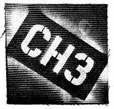 CHANNEL 3 'CH3' E.P. Logo CLOTH PATCH sew-on **Free Shipping** punk band sewing