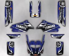 Kit Graphics For YAMAHA BANSHEE 350, KIT decals, stickers, GRAPHICS blue white