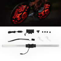 Programmable RGB 64 LED DIY Bike Cycling Bicycle Wheel Tire Spoke Light Lamp DIY