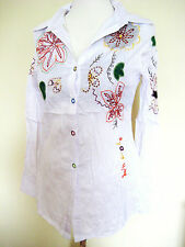 Cotton Semi Fitted Floral Petite Tops & Shirts for Women