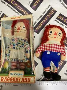 "Original 1970's Knickerbocker Raggedy Ann in Original Package & Andy - 7"""