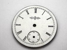 Illinois Watch Dial for Pocket Watches White Vintage 34.1mm Roman Numeral Markrs