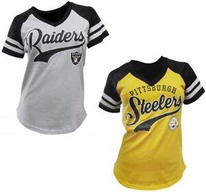 G-III Sports Women's NFL Hat Trick V-Neck T-Shirt - Choose Team