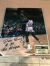 "DAVE BING HOF 1990 Signed Autograph Auto 16x20 Photo Detroit Pistons ""The Mayor"""