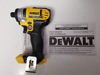 "DEWALT DCF885B 20V 20 VOLT MAX LITHIUM ION 1/4"" IMPACT DRIVER TOOL ONLY NEW"