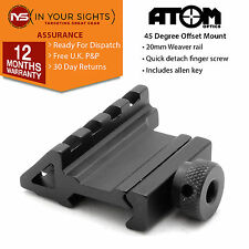 45°Degree offset weaver rail mount / airsoft, rifle shooting 4 slot rail mount