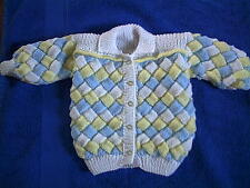 Hand Knitted Jacket/Cardigan age 3/4yrs  NEW
