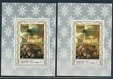 AJMAN ART MONSU DESIDERIO 2 AIRMAIL MINI SHEETS