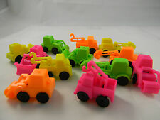 Construction Trucks Plastic Mini Vechicles FUN Varied Colors & Types Toy 1.5 in