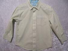 "Gymboree ""Aviator"" Green & White Stripe Button Front Oxford Shirt Top, 12-18 mos"