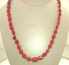 "Graduated Sardinia Freeform Italian Red Coral Bead 14k Gold Necklace 18.25"""