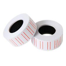 10 Rolls Price Label Paper Tag Sticker Mx-Eos5500 Labeller Gun White Red Line