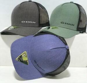 NWT OAKLEY CHALTEN CAP MEN'S HAT 911608 1 SIZE ADJUST Blue Green Black Grey Red