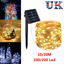 50-300LED Solar String Lights Waterproof 10-30M Copper Wire Fairy Outdoor Garden