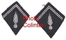 Gendarmerie Départementale : Ecussons de col mle 1967 - broderie machine